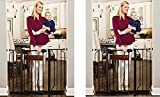 Baby : Regalo Home Accents 43-Inch Extra Wide Walk Thru Gate, Home Décor Hardwood and Steel (2-(Pack))