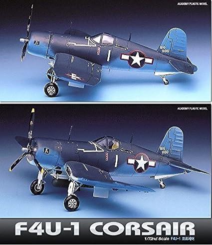 Amazon.com: Academia 1/72 Plastic Model Kit F4U-1 Corsair ...