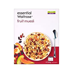 Fruit Muesli essential Waitrose 500g - Pack of 6