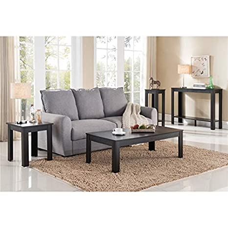 Cappuccino Coffee Table Set.Amazon Com Furniture Of America Vanne 4 Piece Coffee Table Set In