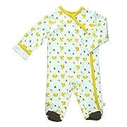 Babysoy Baby Organic Cotton Pattern Footie Pajamas (Koala, 3-6 Months)