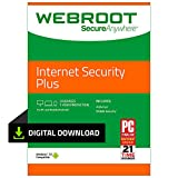 Webroot Internet Security Plus with Antivirus Protection | 3 Device | 1 Year Subscription | PC Download