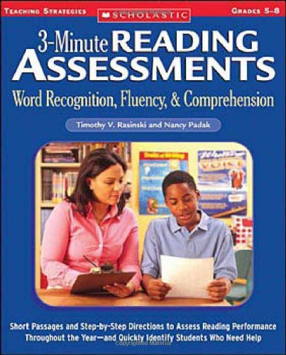 3-Minute Reading Assessments: Word Recognition, Fluency, and Comprehension: Grades (Early Reading Assessments)