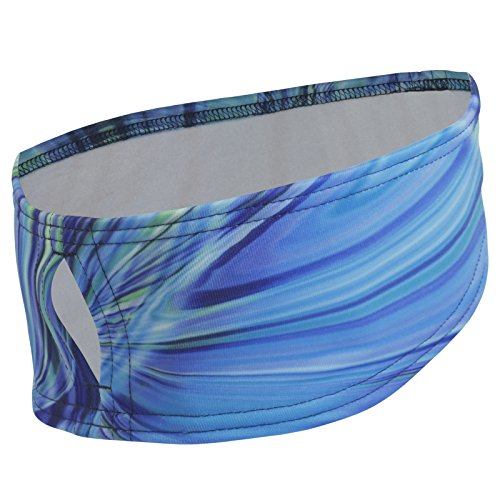 TrailHeads Women's Print Ponytail Headband – 12 prints  - Made in USA - deep dive blue by TrailHeads (Image #8)