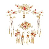 Crystal Crown, Beautiful headdress/Costume Headwear Bride Xiu Wo Dress Headwear Hanfu Fringes Bridal Headwear Accessories