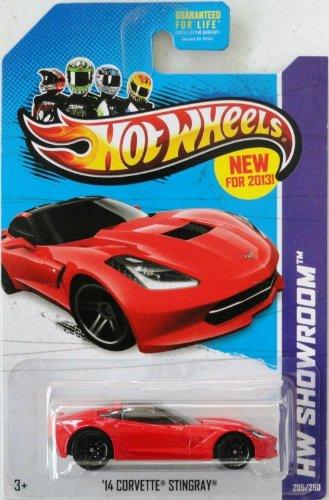 Hot Wheels 2013 '14 Corvette Stingray Red HW Showroom 205/250 (Red Stingray)