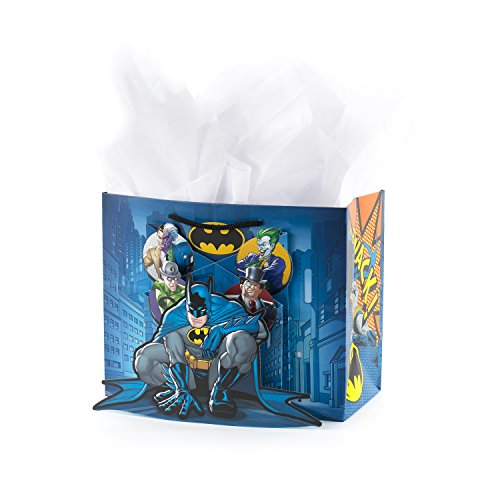 Gift Dvd Wrap - Hallmark Medium Batman Gift Bag with Tissue Paper for Birthdays, Kids Parties, Father's Day and More (Pop-Out 3D)