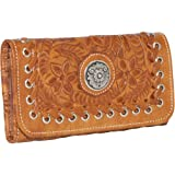 American West Harvest Moon - Tri-Fold Wallet (Antique Brown)