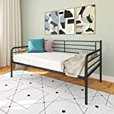 DHP Metal Daybed Frame, Twin Size Furniture, Black