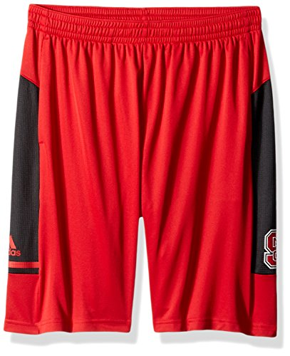 adidas NCAA North Carolina State Wolfpack Adult Men NCAA Sideline Shorts, Medium, Power Red
