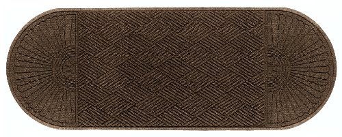 Andersen 2249 Waterhog Eco Grand Premier PET Polyester Fiber Double Ends Entrance Indoor/Outdoor Floor Mat, SBR Rubber Backing, 12.6' Length x 4' Width, 3/8'' Thick, Chestnut Brown by The Andersen Company