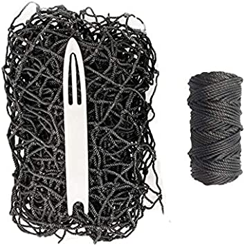 Heavy Duty 6/' x 7/' with Twine /&Zip Ties Batting Cage Repair Kit #42 HDPE 60PLY