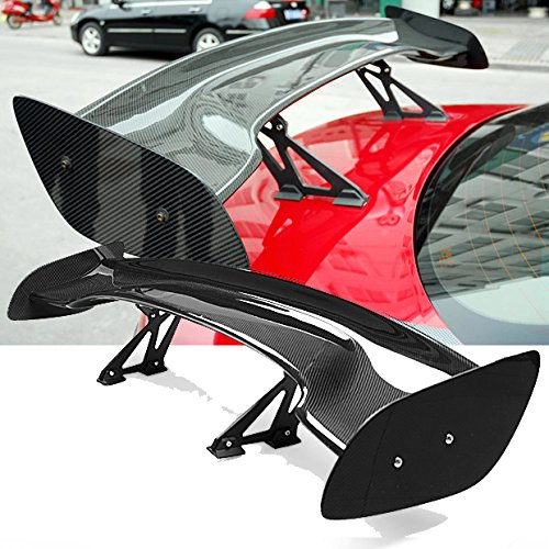 "57"" High Quality Real Carbon Fiber Trunk Spoiler Wing Adjustable For Nissan 350Z 370Z Z33"