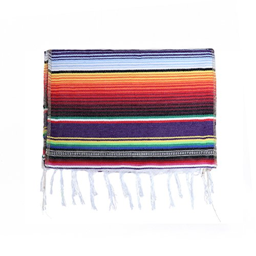 Koyal Pack of 6 14 x 84 inch Mexican Serape Table Runner for Mexican Party Wedding Decorations Fringe Cotton Table Runner by Koyal (Image #6)
