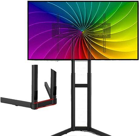 Exing Soporte de TV móvil, 32-65 Pulgadas Libre de elevación móvil TV Carro Video Conferencia Carro Soporte Panel Plano LED LCD Plasma TV Stand Llevar Bandeja: Amazon.es: Hogar