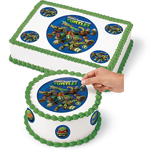 Large Edible Cake Decoration Kit (Sugar Sheets) Teenage Turtles TNMT ()
