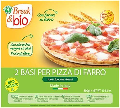 Probios Break&Bio Base Para Pizza de Espelta - 10 paquetes: Amazon ...
