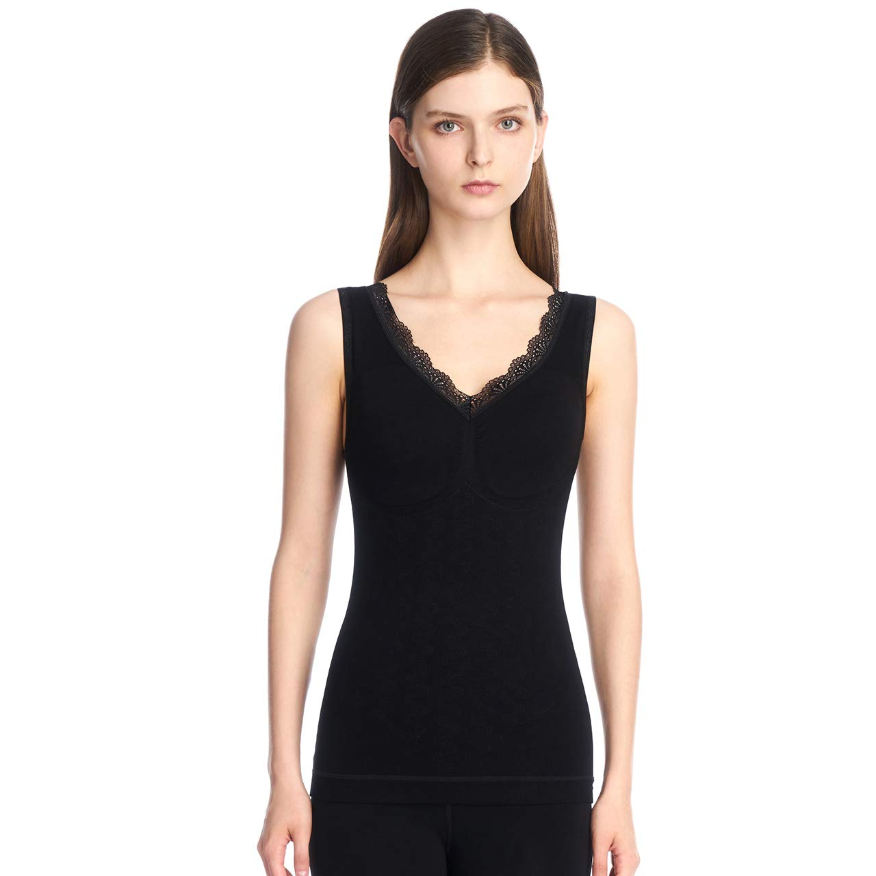 SANQIANG Womens Slim Fit Thermal Tank Top Fleece Lined Sleeveless Vest