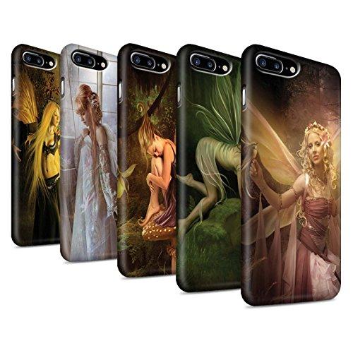Officiel Elena Dudina Coque / Clipser Matte Etui pour Apple iPhone 8 Plus / Pack 10pcs Design / Fées Élégantes Collection