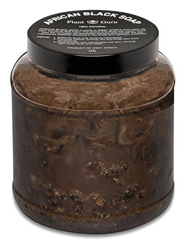 Raw African Black Soap Paste 3.5 lbs. / 3 ½ Pounds From Ghana - 100% Natural Acne Treatment, Aids Against Eczema & Psoriasis, Dry Skin, Scar Removal, Pimples and Blackhead, Face & Body Wash