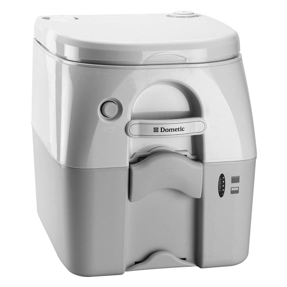 Dometic - SeaLand 975MSD Portable Toilet 5.0 Gallon - Grey w/Brackets