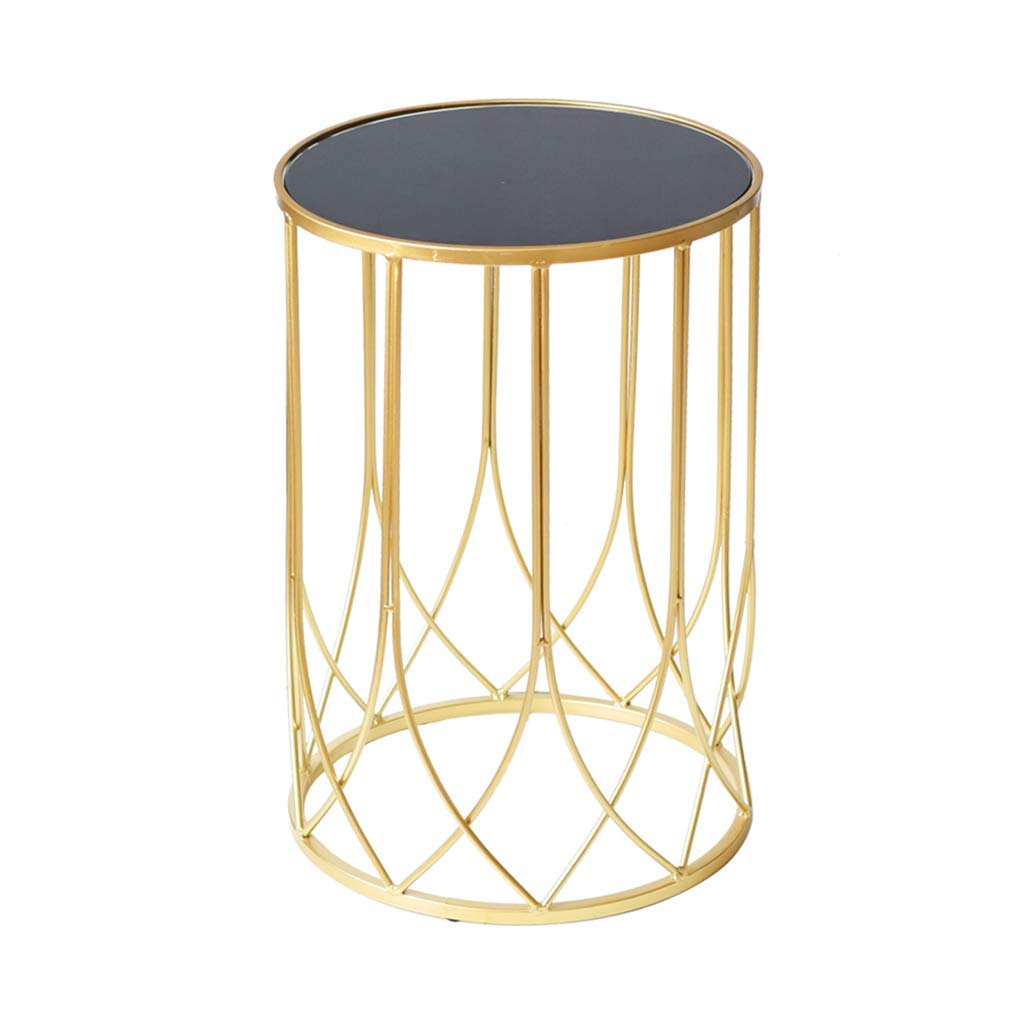 32.5CM49.5CM Sofa Side End Table Snack Table Living Room,Wrought Iron Bedside Table Corner Table Furniture for Home Sofa Balcony Office,32.5CM49.5CM