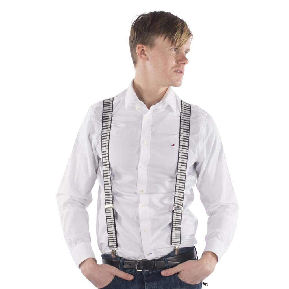 One Size for Men Piano Y Back Suspenders by Dress Up America
