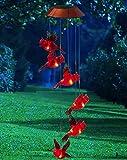 Garden Days Cardinal Solar Mobile Wind Chime