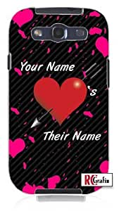Cool Painting Personalized His Her Name Valentine's Day Custom Unique Quality Hard Snap On Case for Samsung Galaxy S4 I9500 - White Case