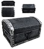 """medieval home decor  Ebros Gift Medieval Fantasy Celtic Crest Dragon Decorative Box Figurine 4.75"""" Long As Dungeons and Dragons Mythical Decor Trinket Storage Sculpture Mini Chest Box Statue GOT LOTR Gothic Fans"""