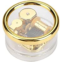 Music Box, Round Acrylic, String Cord, Children's Music Box, Birthday, Musical Toy, Gift, Crafts, Decoration, Play Castle in The Sky/Canon/Remote Spirit/Love Story (to Alice)