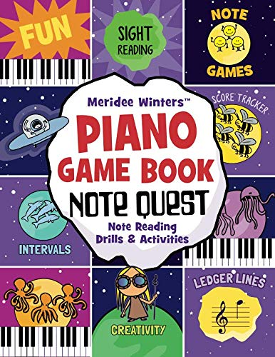 Book Note Reading (Meridee Winters Note Quest (Piano Game Book): Note Reading Drills and Activities (Meridee Winters Game Book Series))