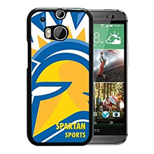 NCAA San Jose State Spartans 6 Black Hard Shell Phone Case For HTC ONE M8