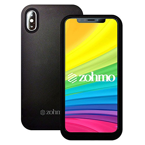 iPhone X Battery Case | Slimmest Rechargeable Backup Charging Case for Apple 10 Phone | Best iPhone X Charger & Accessory for Extended Portable Power Pack Cases | 3,000 mAh | 100% Recharge by Zohmo