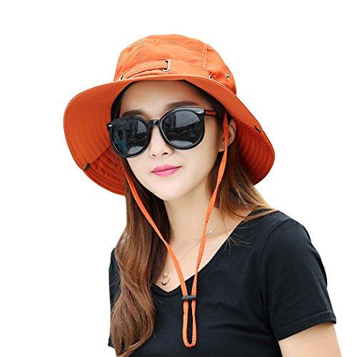 (Kafeimali Summer Sun Men/Women Wide Brim UV Beach Caps Sports fishing Hats)