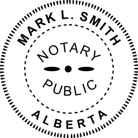 Amazon Com Alberta Canada Notary Seal Stamp Office Products
