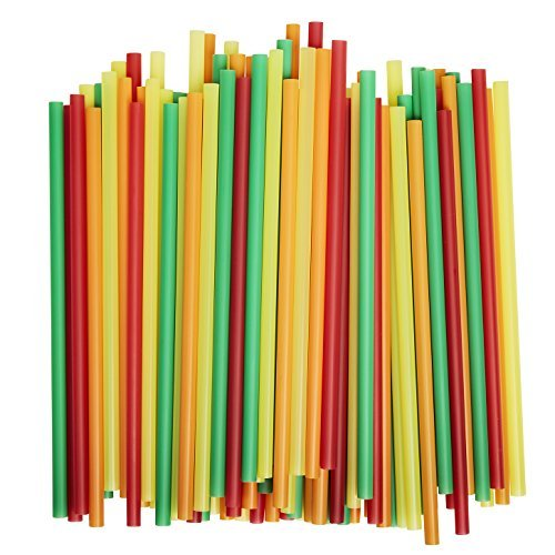 Assorted Colors Smoothie Straws Pieces
