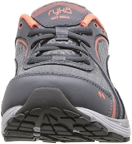 Ryka Womens Sky Walk Walking Shoes Grijs / Coral / W En Hdo Workout Hoofdbandbundel