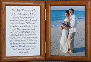 Wedding Gifts For Parents Amazon : Amazon.com - 5x7 Hinged TO MY PARENTS ON MY WEDDING DAY Poem ~ Gift ...