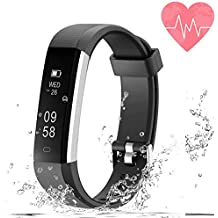 Fitness Tracking Smart Watch Heart Rate Monitor, Bluetooth Wireless Smart Bracelet with Replacement with Android and iOS