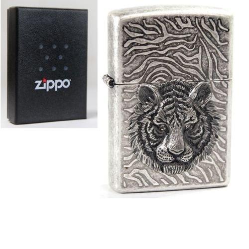Zippo Tiger Eye Nickel Lighter Made in USA /GENUINE and ORIGINAL Packing