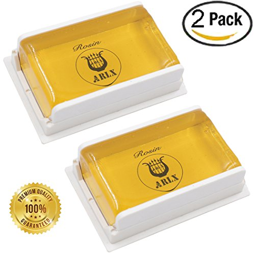 Sound harbor 2 Pack Rosin for Violin Viola and Cello Rosin for Bows (2pack square box)