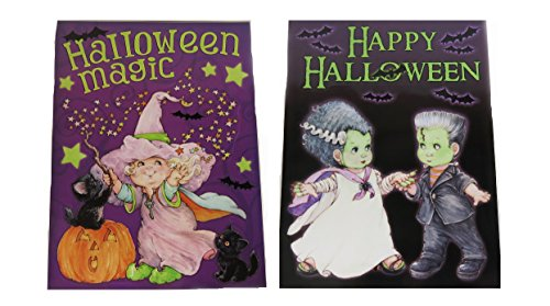 Halloween Static Clings Window Glass Stickers 2 Pack (Halloween Magic Set) ()