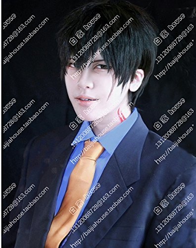 Price comparison product image Custom Blood Blockade Battlefront / Steven r · Fez short black hair wig fluffy beautiful boy