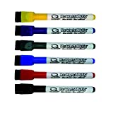 Quartet Magnetic Dry Erase Markers 6PK, Fine Point, Assorted Colors, ReWritables (51-659312Q)