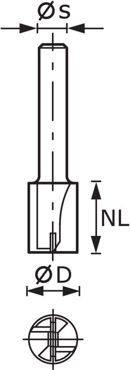Festool 490953 v/ástago 8 mm HW S8 D4//10 filo de base Fresa para ranurar de metal duro