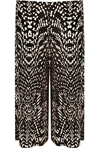 Islander Fashions Femmes 3/4 Longueur Stretch Imprim Culottes Dames Pantalon Elastiqu EU 36-58 Raptail Print