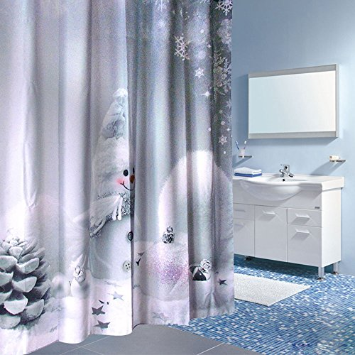 Wimaha Christmas Curtain Waterproof Standard