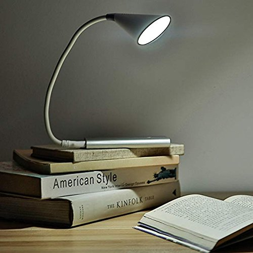 JUJIAMEI Portable USB Reading Lamp and Smart Touch LED Music lamp,360° Lighting Speaker, Desk Lamps 3 Stepless Brightness LED Study Lamp and USB Charging Port for Smart Devices (White) by JUJIAMEI (Image #7)