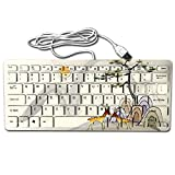 hp 2000 notebook stickers - Mini Keyboard,Wired Thin Light 78 Keys USB For Pc Computer Laptop,Unique Design Sika Deer